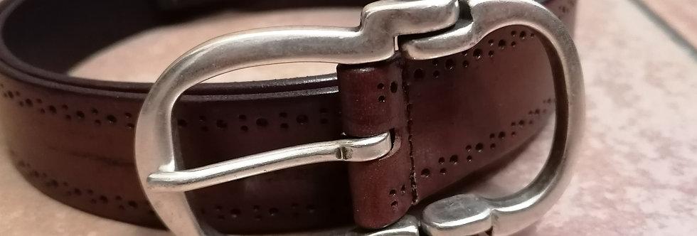 cintura cuoio marrone