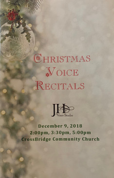 Christmas 2018 Recital