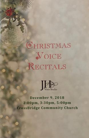 Christmas 2018 Recital