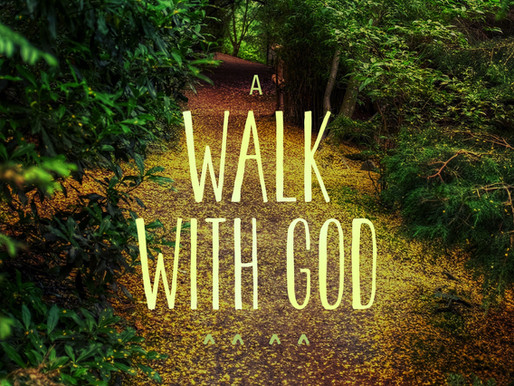 Walking with the Lord.