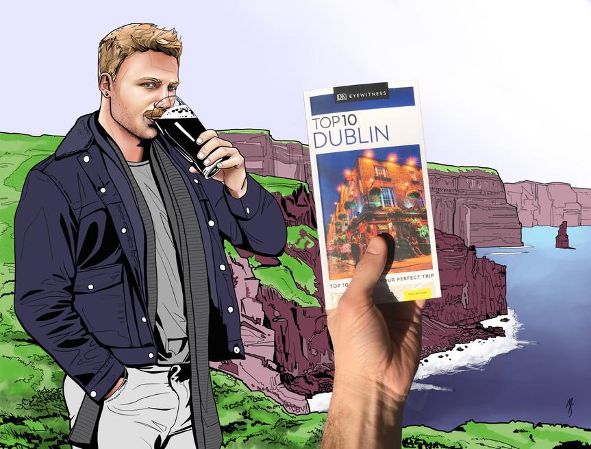 DK Top Ten Dublin Guide: Promotional illustration