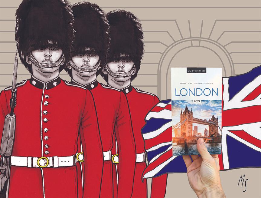 DK Eye Witness Travel Guide: London. illustration for Indigo Plum Rewards Contest