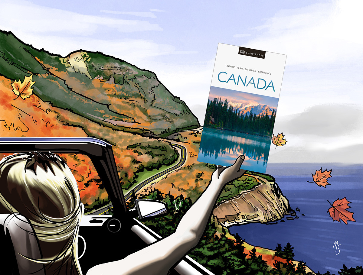 DK Eye Witness Travel Guide: Canada. Promotional illustration