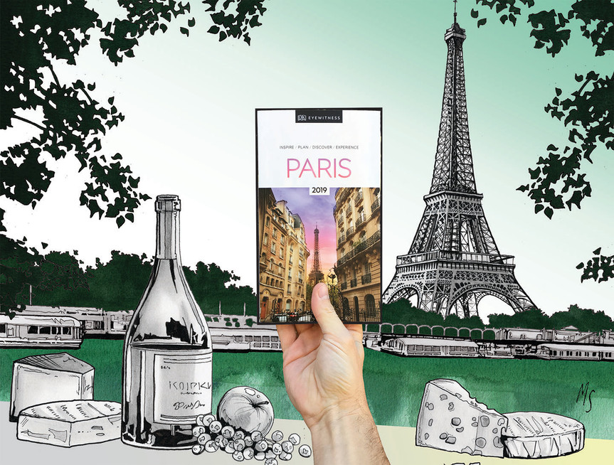 DK Eye Witness Travel Guide: Paris. illustration for Indigo Plum Rewards Contest