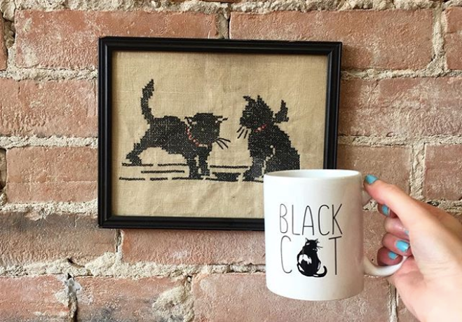 Logo, Black Cat Cafe Cobourg