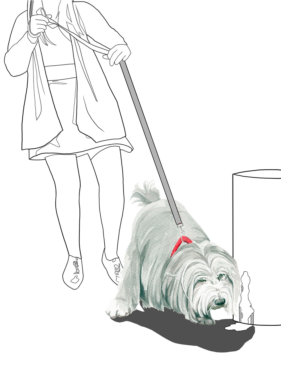 """Illustration done for """"What's My Dog Thinking?"""" An illustrated guide to dog behaviour, book, November 2020"""