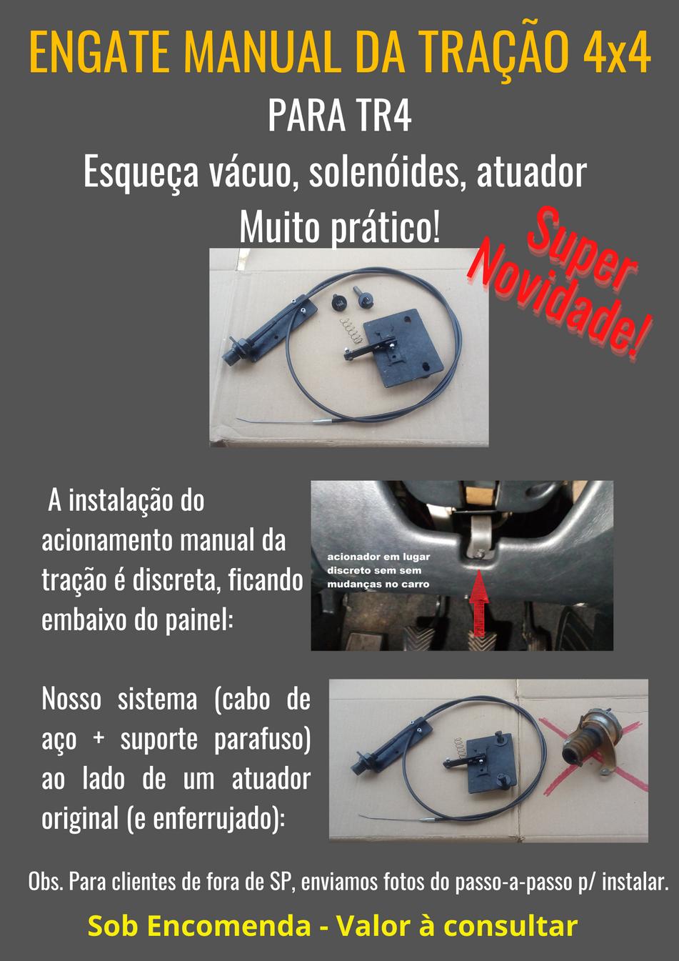 Instalação do Engate Manual da Tração 4x4 para Pajero TR4