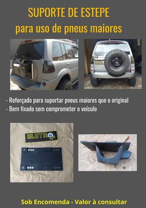 Suporte de estepe regulável para uso de pneus maiores