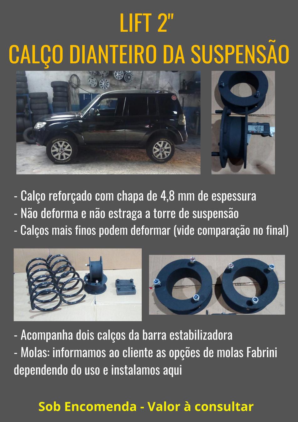 """Instalação de Lift 2"""" - Calços dianteiros de suspensão / Molas"""