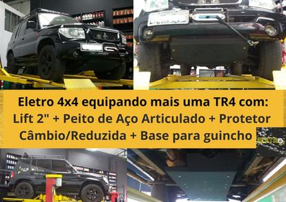"""Litf 2""""+Peito deAço + Protetor 3x3 + Base de Guincho + Guincho"""