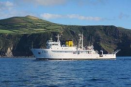 Levantamento hidrográfico nos Açores.