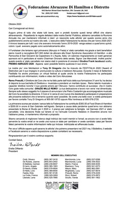 2020 Annual Review Letter 10.20 ITALIAN.