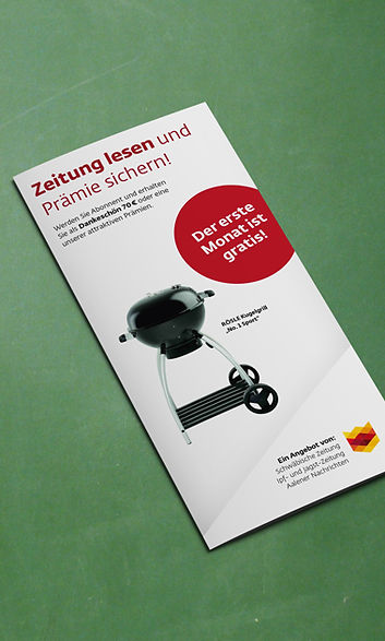 Leser werben Leser – Prämienkatalog/Flyer