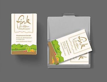 Visitenkartengestaltung Schaubrennerei Fink
