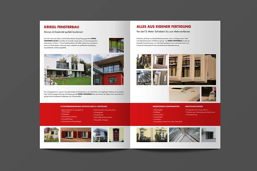 Kriegl Fensterbau – Infobroschüre