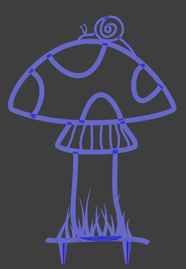 Trellis - Mushroom