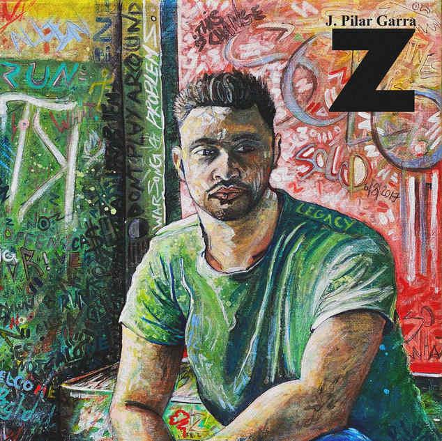 """Artist Sample Portrait (Close up of details) 12"""" x 12"""" canvas"""