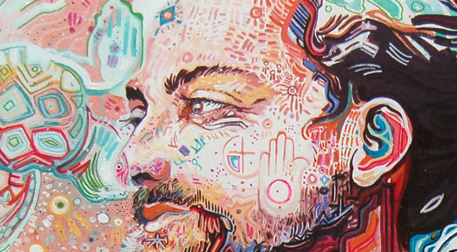 """Music Illustration Highlight  Artist: Will Evans Music Close up of details. 36"""" x 24"""" canvas"""