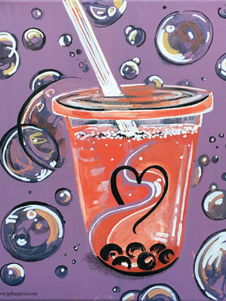Bubble Tea Time Original Available for purchase. Digital / Traditional