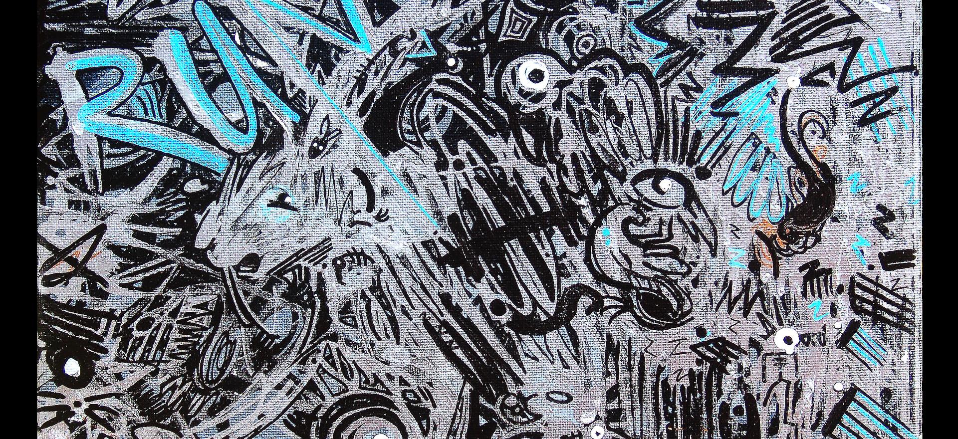 "Music Illustration Highlight 2019 Freestyle  12"" x 12"" canvas"
