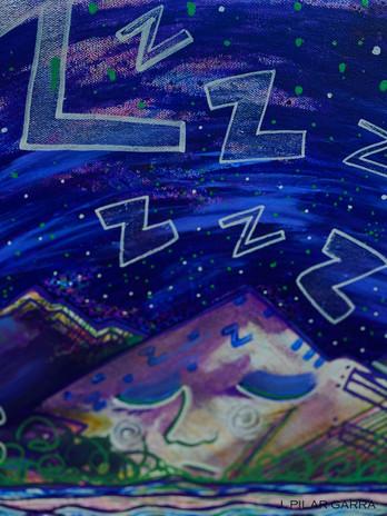 "Summer, 2019 "" The Sleepy Mountain (#3) "" Canvas"