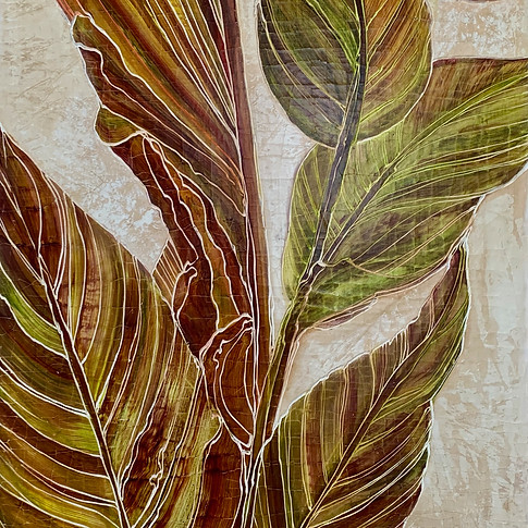 Canna Leaves Triptych (right)