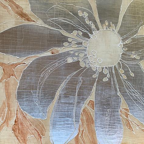 Silver Lotus on Sepia
