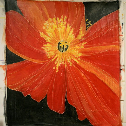 Crimson Poppy Tapestry