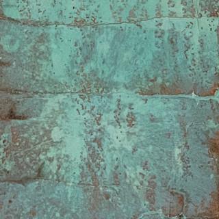 Verdiris on Copper metal leaf