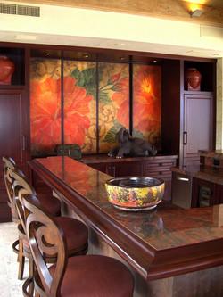 Hibiscus Big Screen TV Enclosure