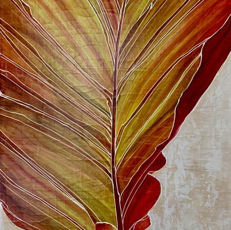 Canna Leaf  Triptych (center)