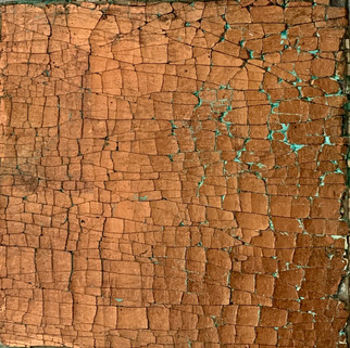 Copper Metal leaf with Verdigris wash ? Medium crack