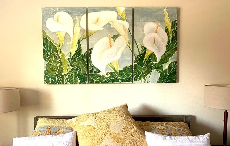 Calla Lily triptych