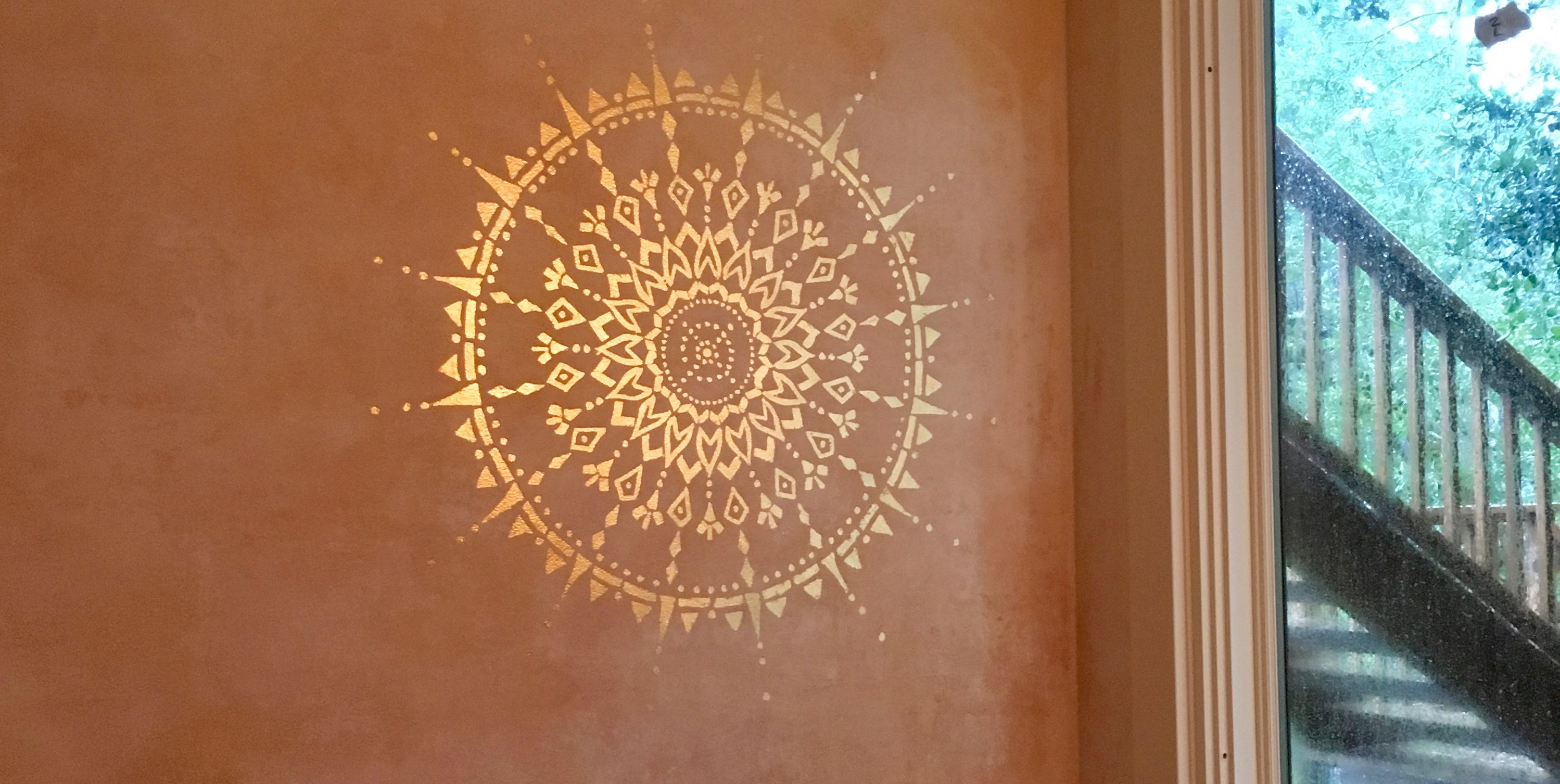 Gilded Mandala on Fresco Finish