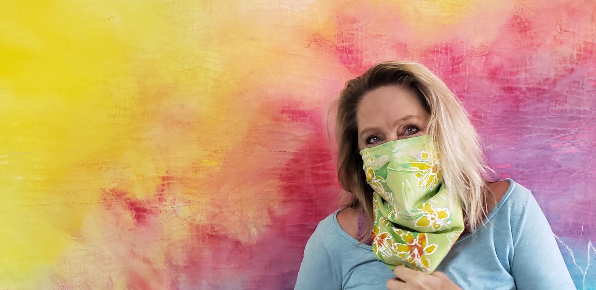 Hand-painted Silk Scarf / Bandana