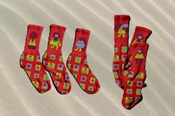 Hawaii Volcano Socks