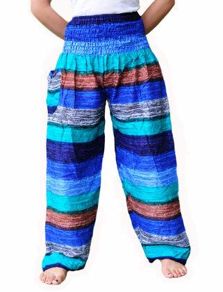 Baggy pants stripe blue