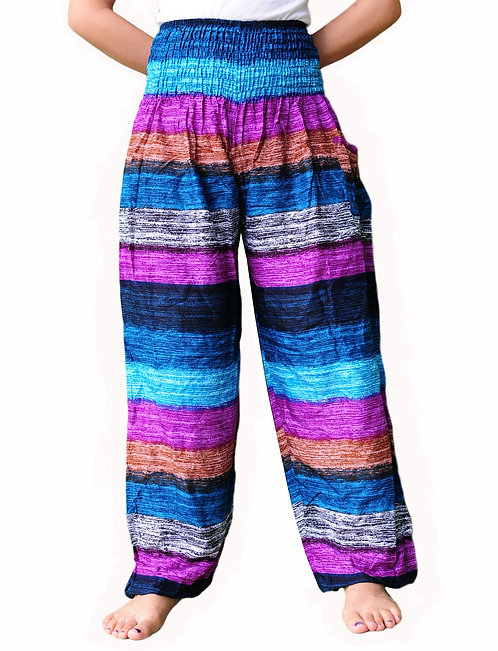 Baggy pants stripe puple