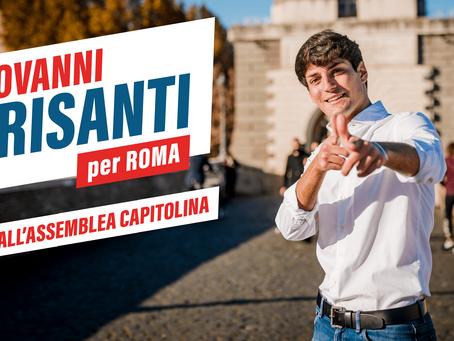 Sono Giovanni Crisanti, 22 anni: mi candido all'Assemblea Capitolina. Sarò il più giovane del Pd