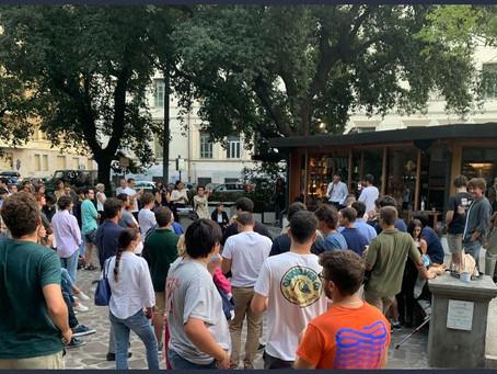 """Crisanti in piazza con 150 giovanissimi: """"Noi siamo la politica, basta con i soliti"""""""