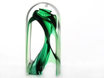 Helix Sculpture, transparent.