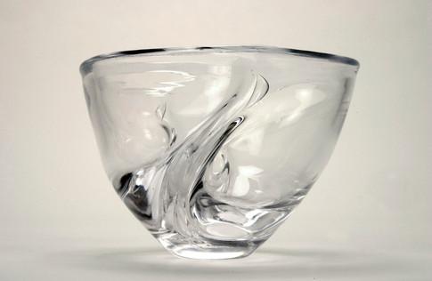 Twist Bowl, clear.