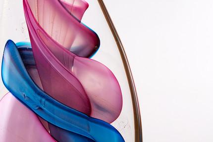 Vortex Wave, blue/pink.