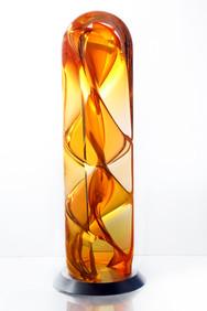 Helix Sculpture, orange.