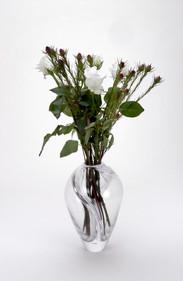 Twist Vase, clear.