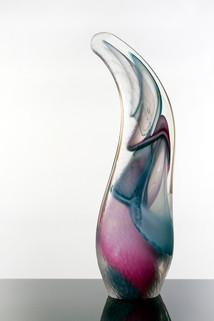 Facted Vortex Wave, pink/blue.