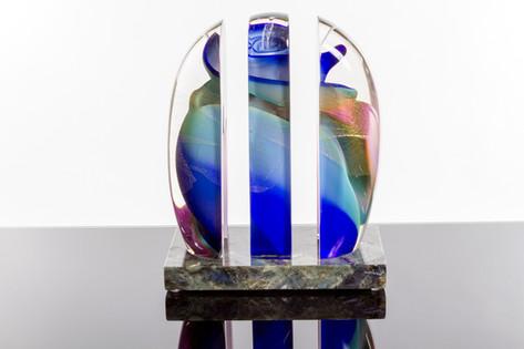 Vortex Sculpture, cut, blue/pink.