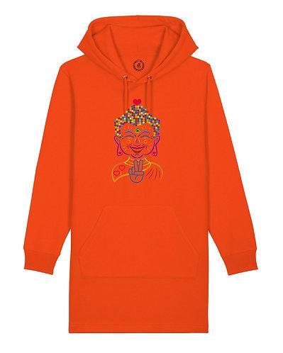 The Love Buddha hoodie dress orange