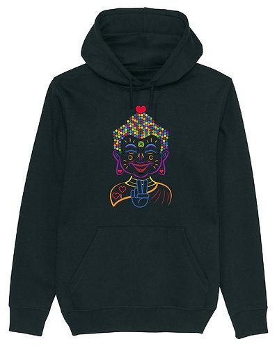 The Love Buddha hoodie black