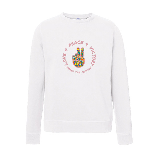 Love, Peace, Victory sweater